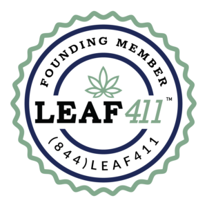A badge which indicates that Medically Correct is a Founding Member of Leaf 411