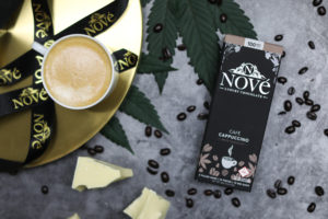 A shot of Nove luxury cannabis chocolates; the Cafe Cappuccino is a favorite of Bob Eschino's, the company's president.
